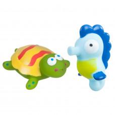 Игр. наб. для купания с брызгалкой, Bondibon, черепаха, морской конек, pvc, арт. 6204 ВВ1735
