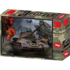 10177 Пазл Super 3D «Танк Т-34», 500 детал., 6+