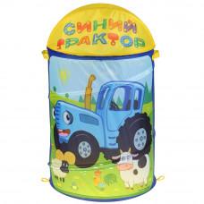Корзина для игрушек Играем вместе Синий трактор XDP-17924-R