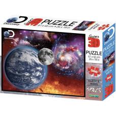 10081 Пазл Super 3D «Космический пейзаж», 500 детал., 6+