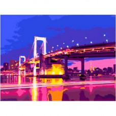 Раскраска по номерам Вечерний мост Ркн/ф-066