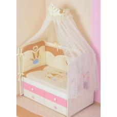 Комплект в кровать - Принцесса - бежевый