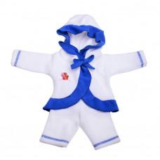 Одежда  для кукол Пальто с капюшоном  и брючки 87
