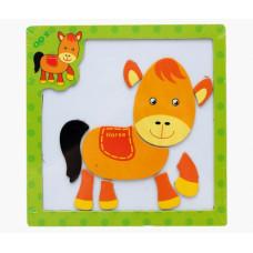Деревянная игрушка Пазл магнитный Веселые картинки