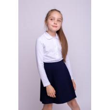 Блузка для девочки с длинным рукавом 0001_ШК21