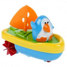 Заводная игрушка для ванны УМка Пингвинёнок-капитан ZY187767-R