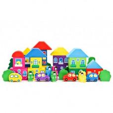 Конструктор - Цветной городок. 41 Деталь