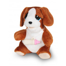 Мяг. Собака Тишаня 13 см FT-B002 механическая ТМ Коробейники